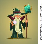 fairy tail old wizard magician... | Shutterstock .eps vector #1049483453