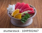 tuna  sashimi.japanese food | Shutterstock . vector #1049502467