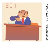 angry boss at the table   Shutterstock .eps vector #1049507657