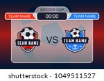 football scoreboard with team... | Shutterstock .eps vector #1049511527