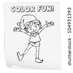 illustration of a colouring... | Shutterstock . vector #104951393