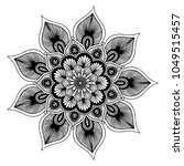 mandalas for coloring book.... | Shutterstock .eps vector #1049515457