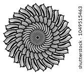 mandalas for coloring book.... | Shutterstock .eps vector #1049515463