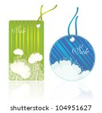 vector  price tags with... | Shutterstock .eps vector #104951627