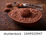 chocolate egg with filling  for ... | Shutterstock . vector #1049523947