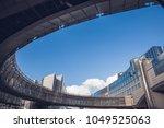 european parliament building in ...   Shutterstock . vector #1049525063