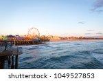 sunset in santa monica pier | Shutterstock . vector #1049527853