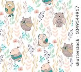 vector seamless pattern with... | Shutterstock .eps vector #1049544917