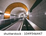 old elbe tunnel in hamburg ...