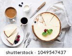 classic new york cheesecake and ... | Shutterstock . vector #1049547437