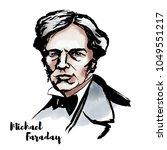 michael faraday watercolor... | Shutterstock .eps vector #1049551217