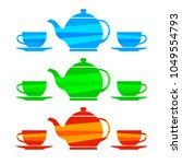tea icons on white background | Shutterstock .eps vector #1049554793