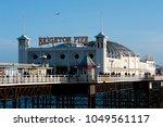 brighton pier  brighton and... | Shutterstock . vector #1049561117