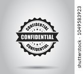 confidential grunge rubber... | Shutterstock .eps vector #1049583923