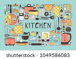 hand drawn illustration cooking ... | Shutterstock .eps vector #1049586083