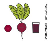 beet. slice of beet. beet juice.... | Shutterstock .eps vector #1049600357
