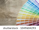 Small photo of Color sampler on wooden meter