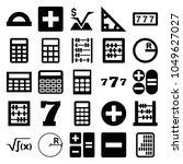 math icons. set of 25 editable... | Shutterstock .eps vector #1049627027