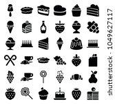 dessert icons. set of 36...   Shutterstock .eps vector #1049627117