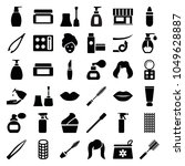 cosmetic icons. set of 36... | Shutterstock .eps vector #1049628887