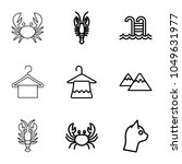 simplicity icons. set of 9...   Shutterstock .eps vector #1049631977