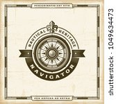 vintage navigator label.... | Shutterstock .eps vector #1049634473