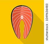 salmon steak icon. flat...   Shutterstock .eps vector #1049636483