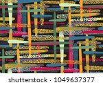 vector seamless pattern with... | Shutterstock .eps vector #1049637377