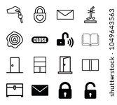 open icons. set of 16 editable... | Shutterstock .eps vector #1049643563