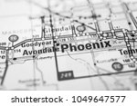 phoenix on the map usa | Shutterstock . vector #1049647577