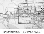 phoenix on the map usa | Shutterstock . vector #1049647613