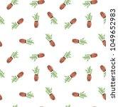 watercolor set of green pot... | Shutterstock . vector #1049652983