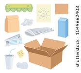 cardboard waste objects... | Shutterstock .eps vector #1049662403