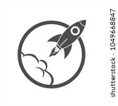 rocket startup space icon | Shutterstock .eps vector #1049668847