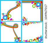 set of rainbow backgrounds | Shutterstock .eps vector #104967017