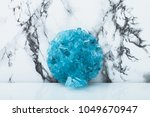 a round bundle of grown blue...