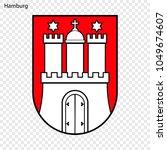 emblem of hamburg. city of...   Shutterstock .eps vector #1049674607