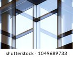 abstract modern architecture... | Shutterstock . vector #1049689733