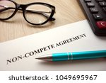 non compete agreement document... | Shutterstock . vector #1049695967