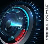 futuristic sports car... | Shutterstock .eps vector #1049696867