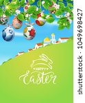 vector card with realistic... | Shutterstock .eps vector #1049698427