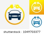 electric car logo template... | Shutterstock .eps vector #1049703377