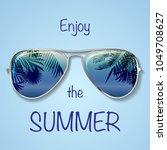 big bright blue summer... | Shutterstock .eps vector #1049708627