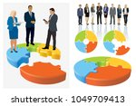 create your own business team.... | Shutterstock . vector #1049709413