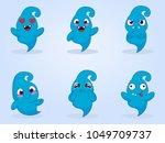 cartoon monsters. vector set of ... | Shutterstock .eps vector #1049709737