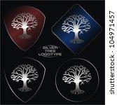 Set Of Four Logos As Silver...