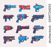 cartoon gun vector toy blaster... | Shutterstock .eps vector #1049724053