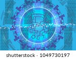 abstract vector pattern with... | Shutterstock .eps vector #1049730197
