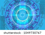 abstract vector pattern with... | Shutterstock .eps vector #1049730767
