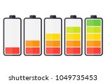 illustration of battery level... | Shutterstock .eps vector #1049735453